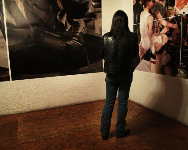 Person in exhibition
