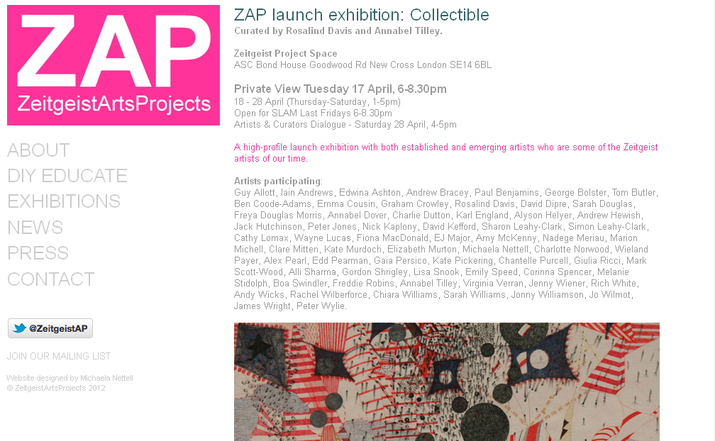 ZAP projects website