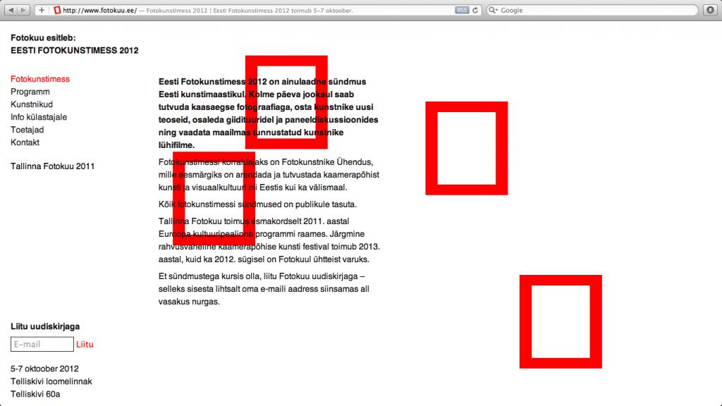 Tallinn Photomonth website