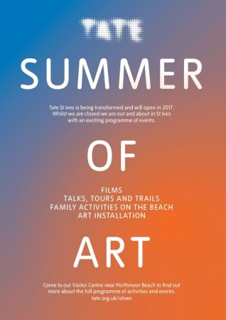 Tate flyer for Summer Programme