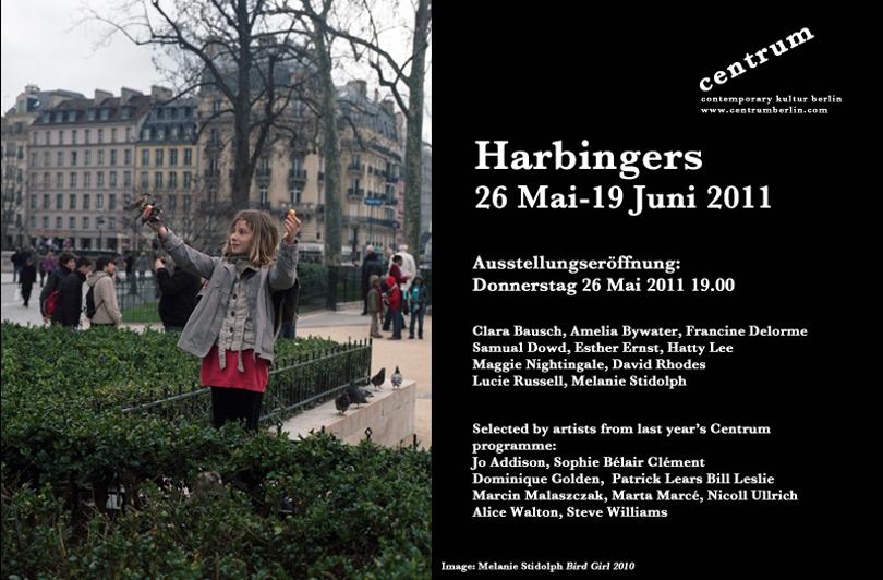 Harbingers exhibition flyer