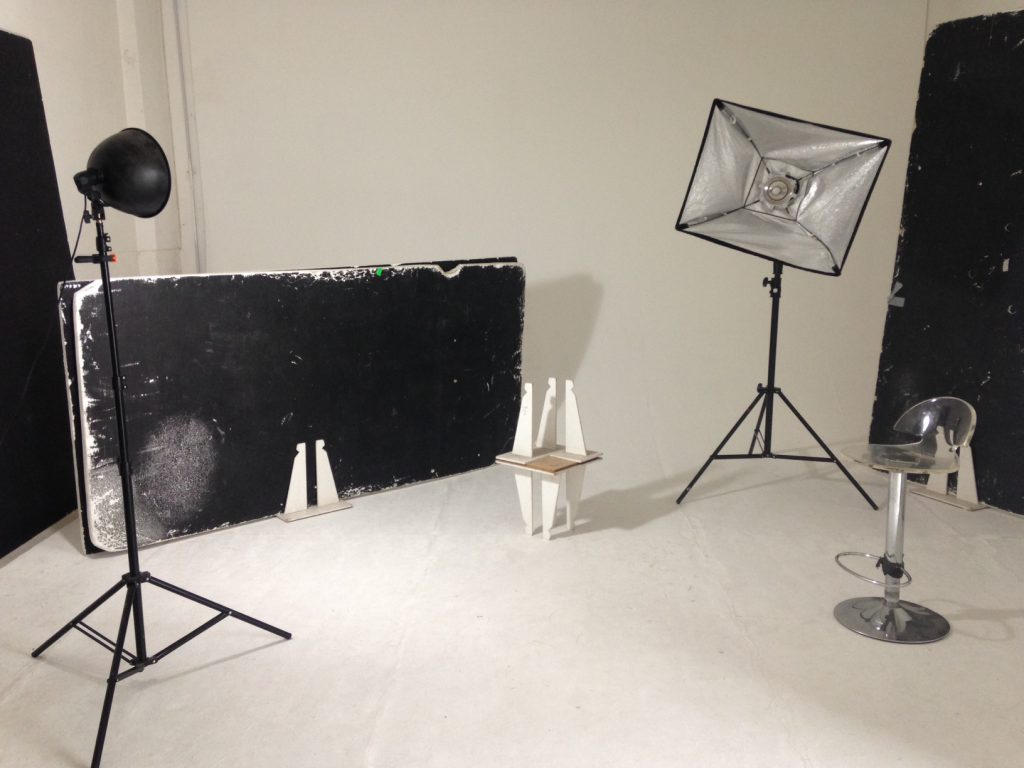 Photographic studio with equipment